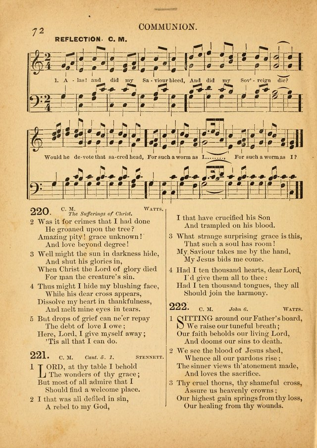 The Primitive Baptist Hymnal: a choice collection of hymns and tunes of early and late composition page 72