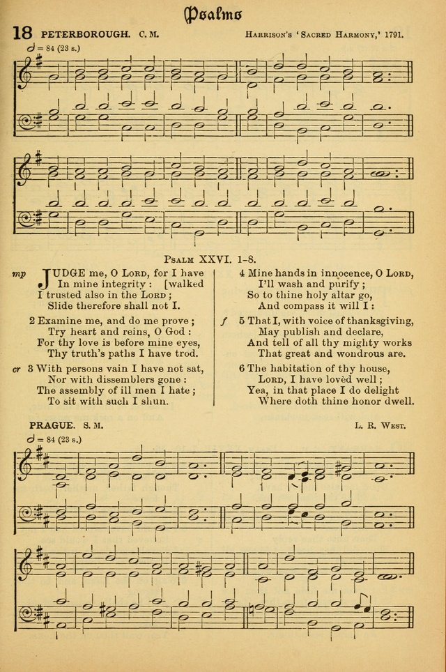 The Presbyterian Book of Praise: approved and commended by the General Assembly of the Presbyterian Church in Canada; With tunes; Part I. Selections from the Psalter. Part II. The Hymnal, rev, and en. page 19