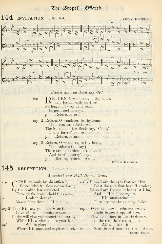 The Presbyterian Book of Praise: approved and commended by the General Assembly of the Presbyterian Church in Canada, with Tunes page 251