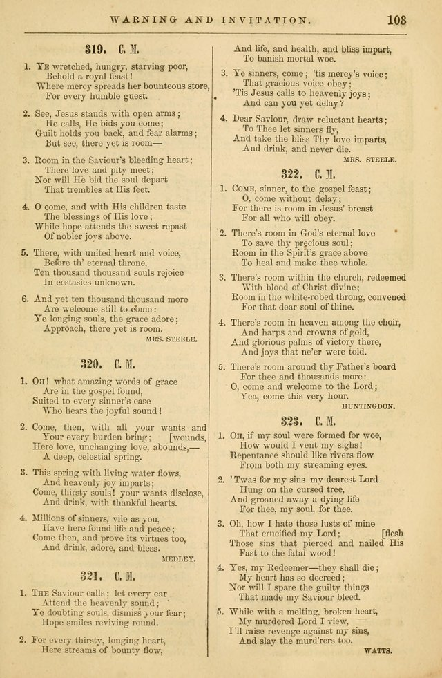 Plymouth Collection of Hymns and Tunes; for the use of Christian Congregations page 122