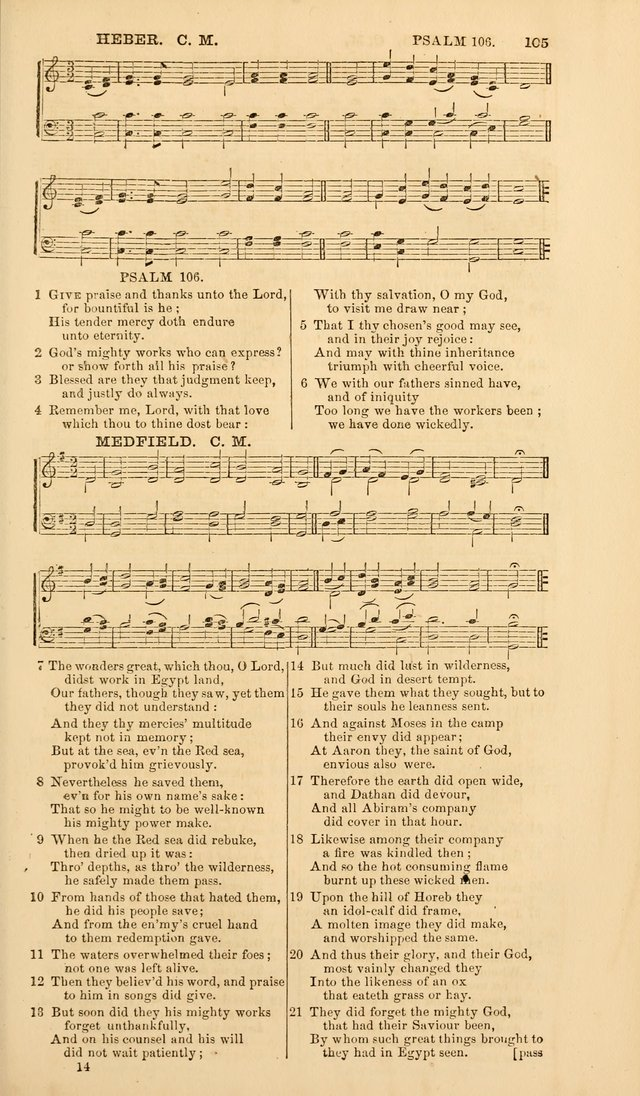 The Psalms of David, with a selection of standard music appropriately arranged according to sentiment of each Psalm or portion of Psalm (8th ed.) page 105