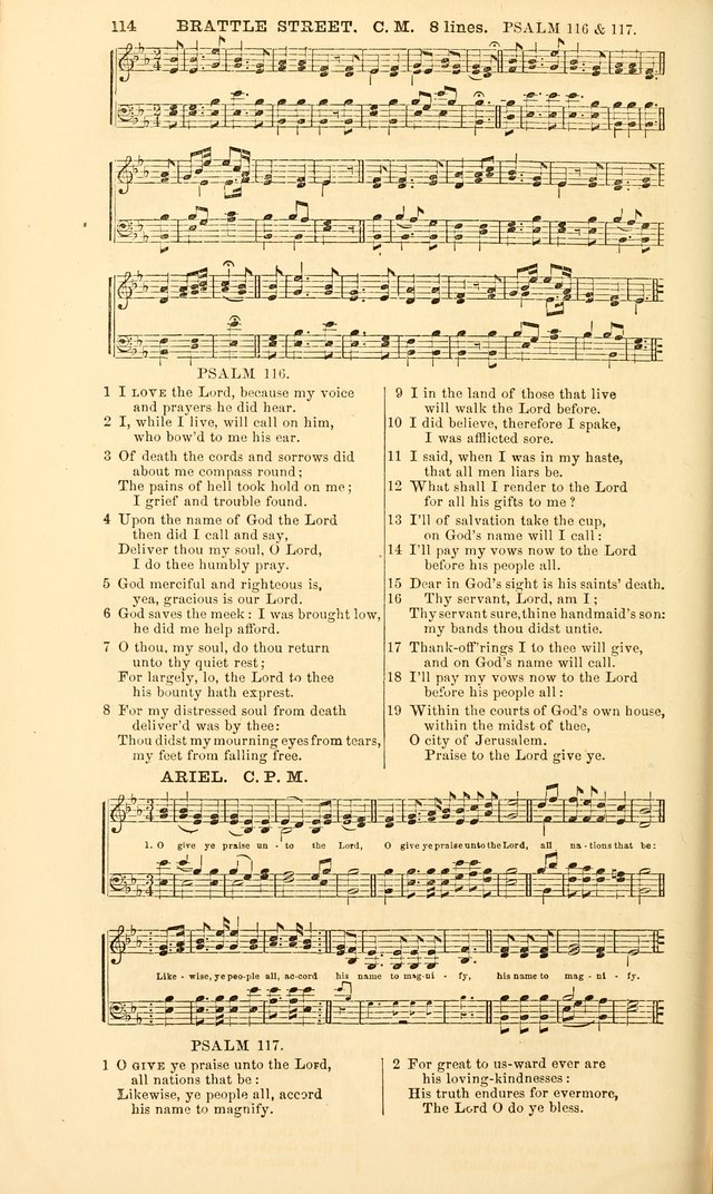 The Psalms of David, with a selection of standard music appropriately arranged according to sentiment of each Psalm or portion of Psalm (8th ed.) page 114