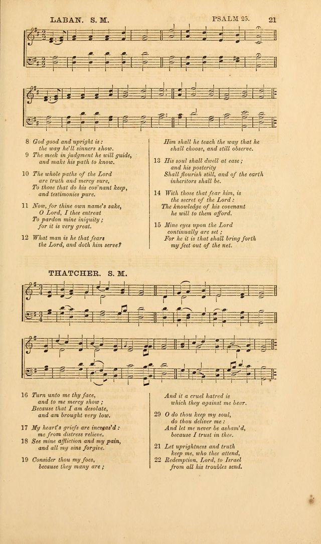 The Psalms of David, with a selection of standard music appropriately arranged according to sentiment of each Psalm or portion of Psalm (8th ed.) page 21