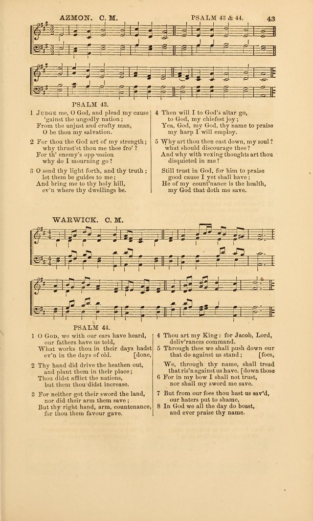 The Psalms of David, with a selection of standard music appropriately arranged according to sentiment of each Psalm or portion of Psalm (8th ed.) page 43