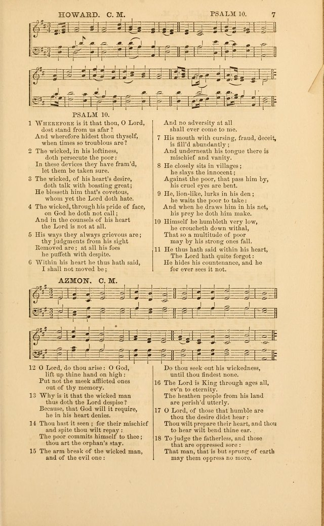 The Psalms of David, with a selection of standard music appropriately arranged according to sentiment of each Psalm or portion of Psalm (8th ed.) page 7