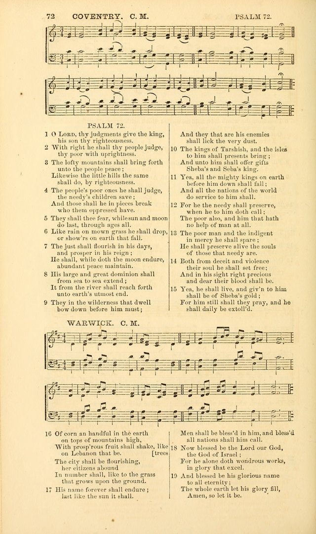 The Psalms of David, with a selection of standard music appropriately arranged according to sentiment of each Psalm or portion of Psalm (8th ed.) page 72