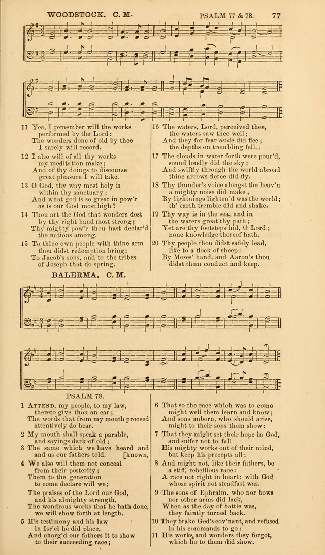 The Psalms of David, with a selection of standard music appropriately arranged according to sentiment of each Psalm or portion of Psalm (8th ed.) page 77