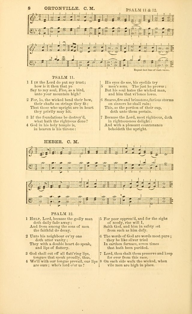 The Psalms of David, with a selection of standard music appropriately arranged according to sentiment of each Psalm or portion of Psalm (8th ed.) page 8