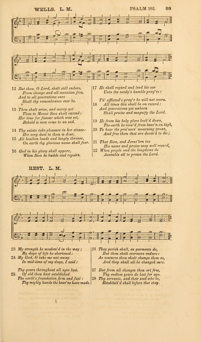 The Psalms of David, with a selection of standard music appropriately arranged according to sentiment of each Psalm or portion of Psalm (8th ed.) page 99