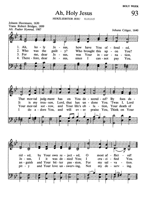Presbyterian Hymnal: hymns, psalms, and spiritual songs page 105