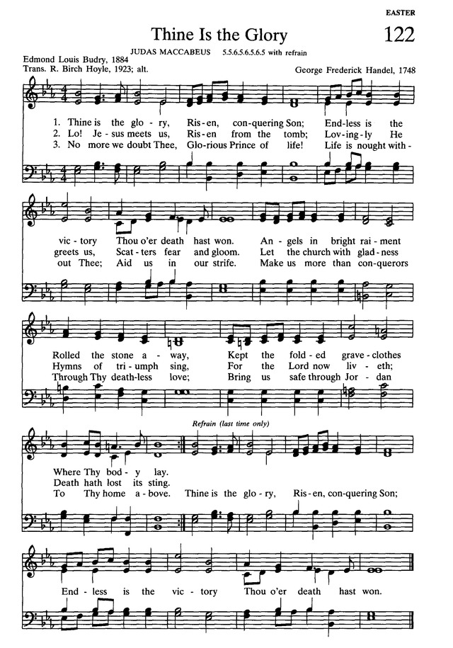 Presbyterian Hymnal: hymns, psalms, and spiritual songs page 137