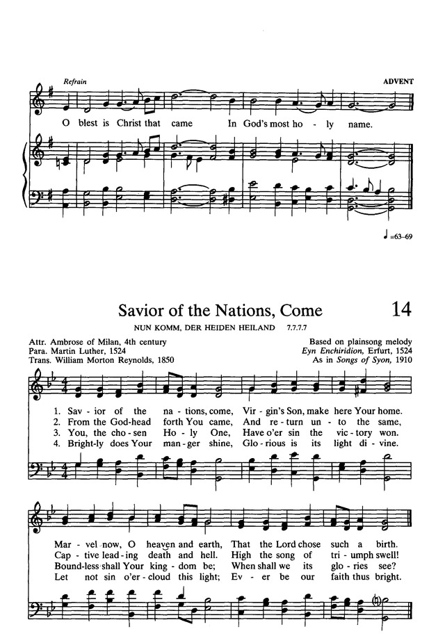 Presbyterian Hymnal: hymns, psalms, and spiritual songs page 15