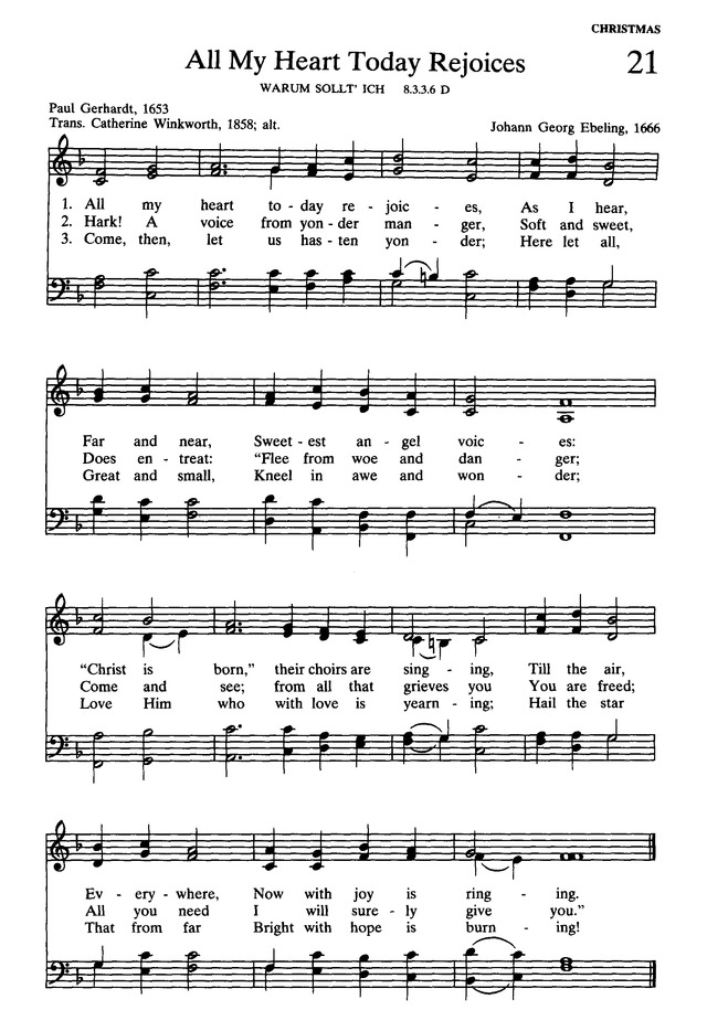 Presbyterian Hymnal: hymns, psalms, and spiritual songs page 23