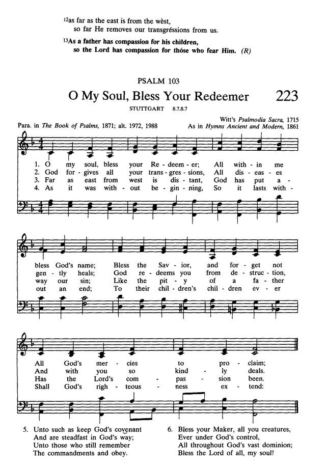 Presbyterian Hymnal: hymns, psalms, and spiritual songs 223