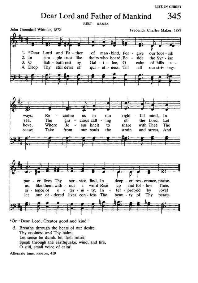 Presbyterian Hymnal: hymns, psalms, and spiritual songs page 381