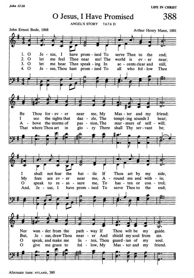 Presbyterian Hymnal: hymns, psalms, and spiritual songs 388. O Jesus ...