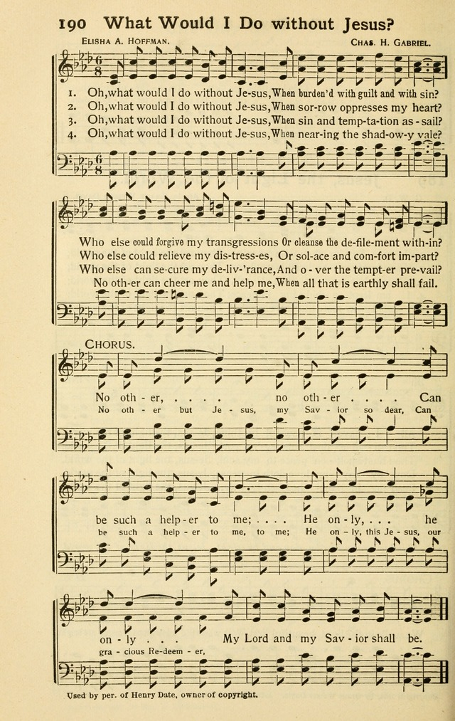 Pentecostal Hymns Nos. 3 and 4 Combined page 190