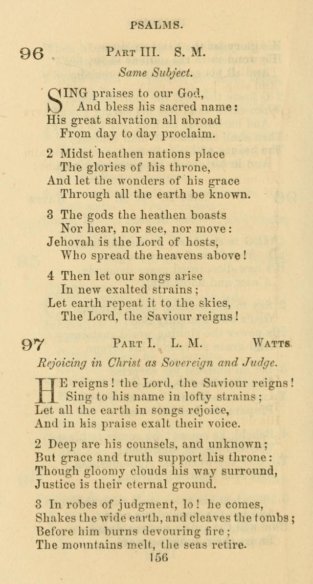 Psalms and Hymns: adapted to social, private and public worship in the Cumberland Presbyterian Chruch page 156