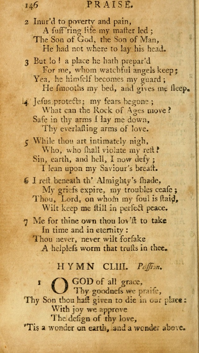 A Pocket hymn-book, designed as a constant companion for the pious: collected from various authors (11th ed.) page 146