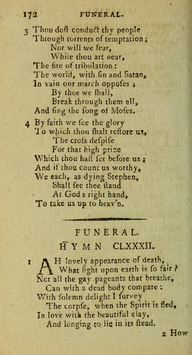 A Pocket Hymn Book: designed as a constant companion for the pious, collected from various authors (9th ed.) page 172