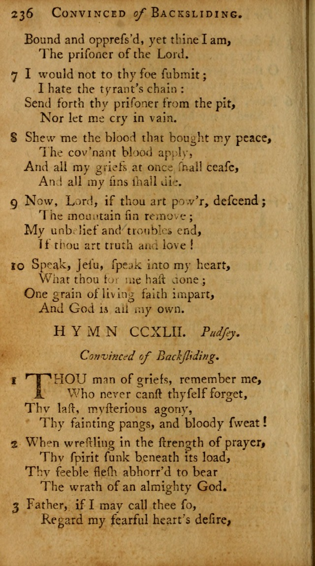 A Pocket Hymn-book: designed as a constant companion for the pious, collected from various authors (18th ed.) page 230