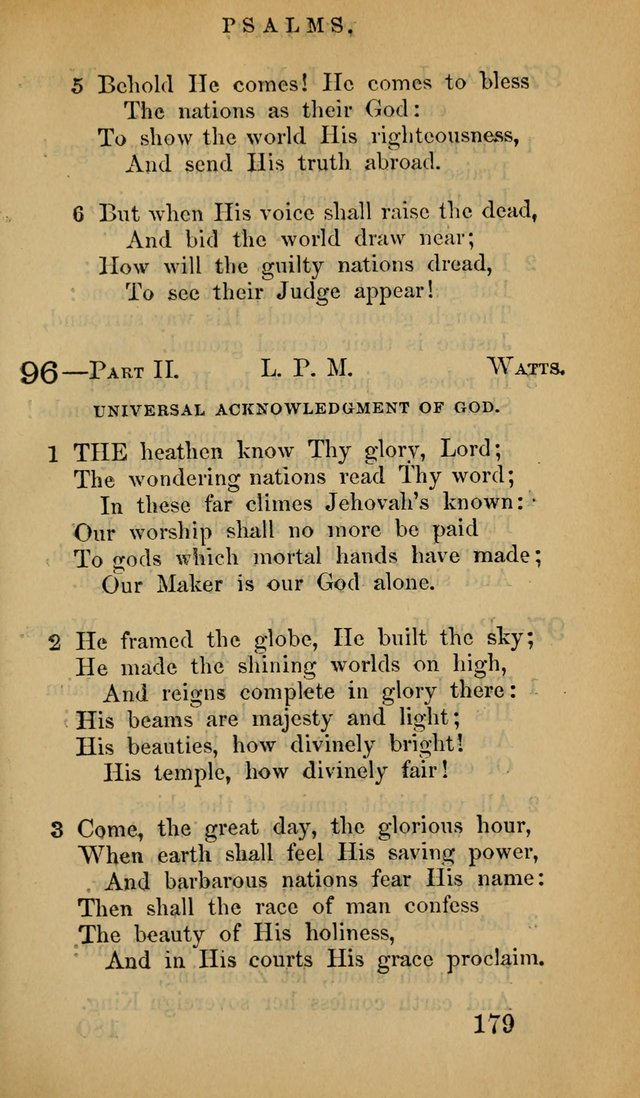 The Psalms and Hymns, with the Doctrinal Standards and Liturgy of the Reformed Protestant Dutch Church in North America page 187