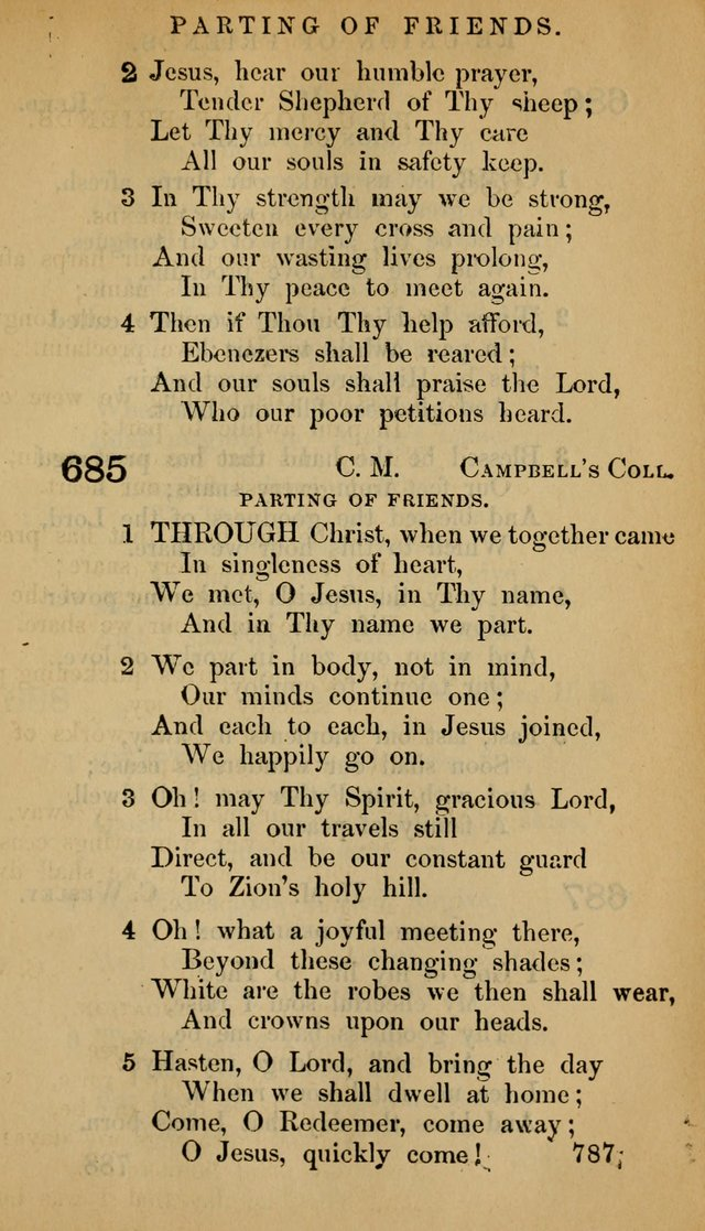 The Psalms and Hymns, with the Doctrinal Standards and Liturgy of the Reformed Protestant Dutch Church in North America page 795