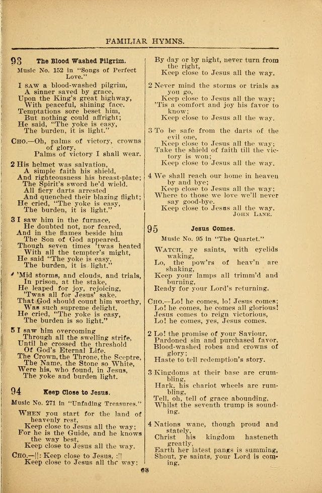 Praise Hymns and Full Salvation Songs page 58