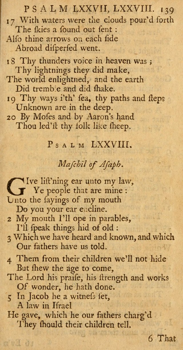The Psalms, Hymns, and Spiritual Songs of the Old and New-Testament: faithfully translated into English metre: for the use, edification, and comfort of the saints...especially in New-England (25th ed) page 143