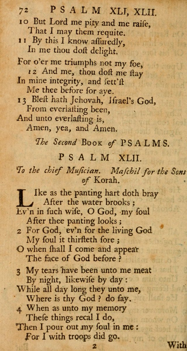 The Psalms, Hymns, and Spiritual Songs of the Old and New-Testament: faithfully translated into English metre: for the use, edification, and comfort of the saints...especially in New-England (25th ed) page 76