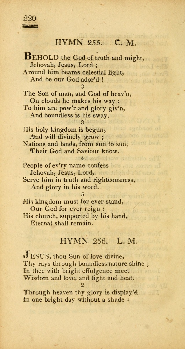 Psalms, Hymns and Spiritual Songs: selected and designed for the use of  the church universal, in public and private devotion; with an appendix, containing the original hymns omitted in the last ed. page 222