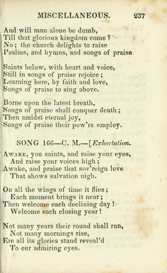 Psalms, Hymns and Spiritual Songs, Original and Selected. (14th stereotype ed.) page 237