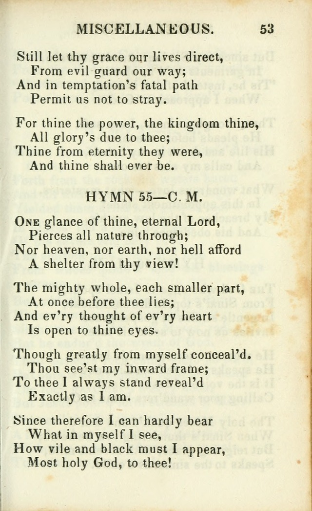 Psalms, Hymns and Spiritual Songs, Original and Selected. (14th stereotype ed.) page 309