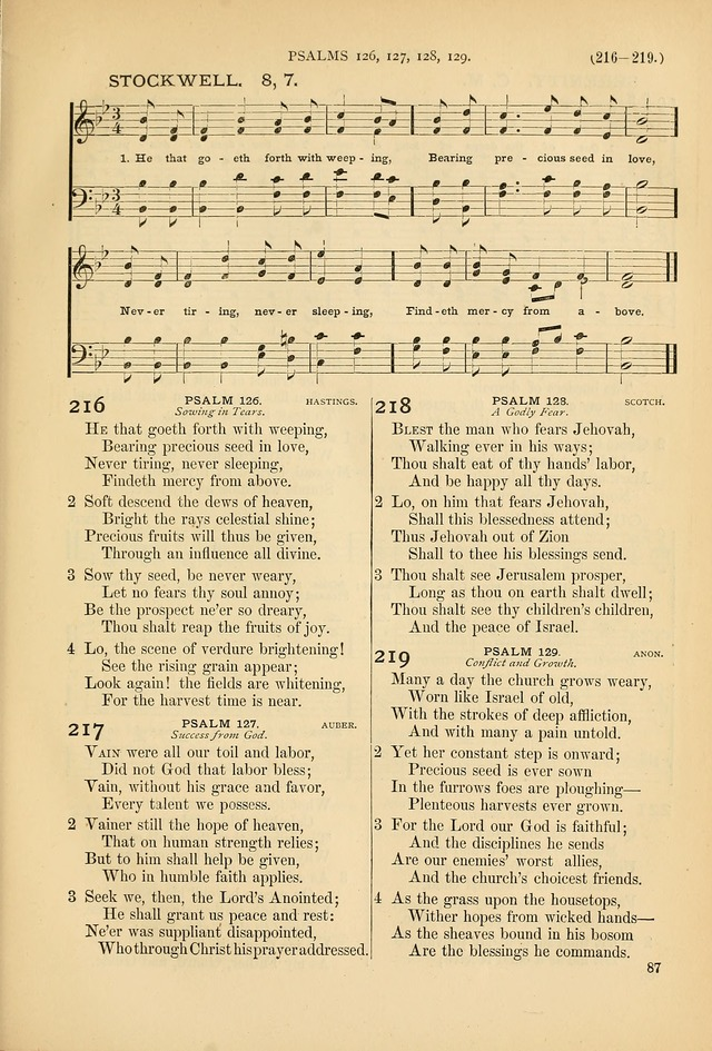 Psalms and Hymns and Spiritual Songs: a manual of worship for the church of Christ page 87