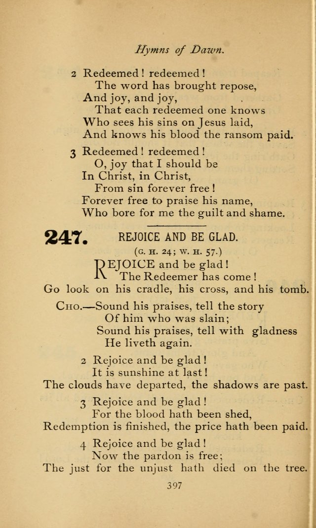 Poems and Hymns of Dawn 246. Redeemed, redeemed, O sing the joyful ...