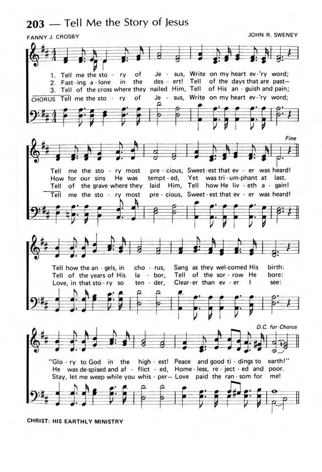 Praise! Our Songs and Hymns page 166
