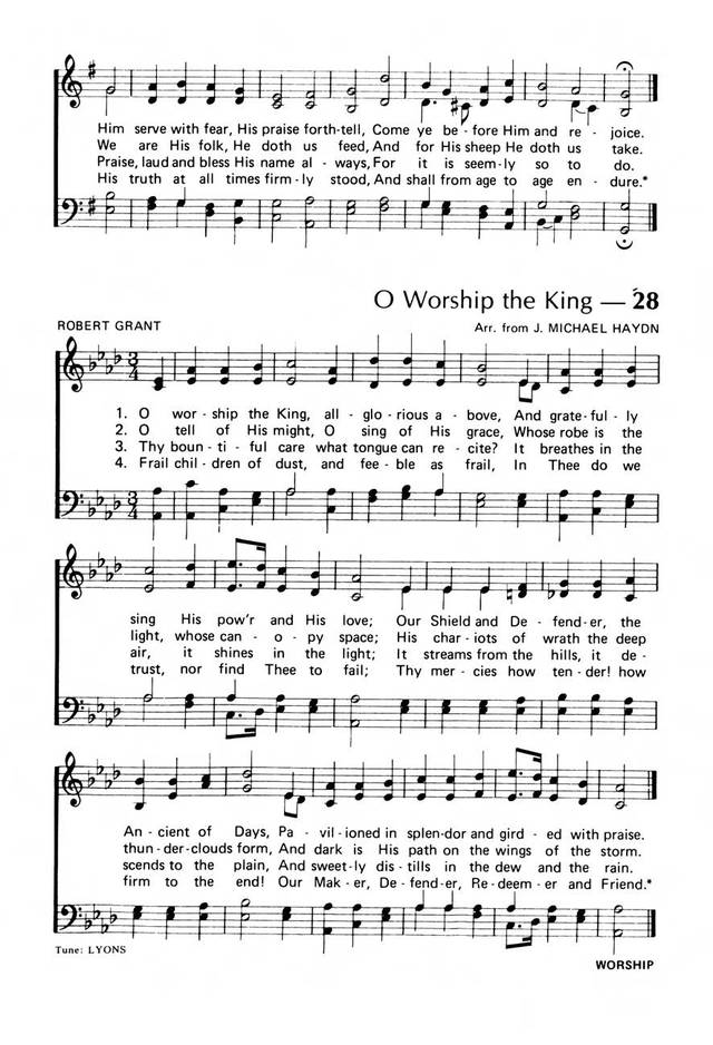 Praise! Our Songs and Hymns page 22