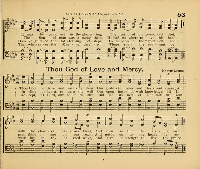 Peerless Praise : a collection of hymns and music for the Sabbath school, with a complete department of elementary instruction in the theory and pract page 9