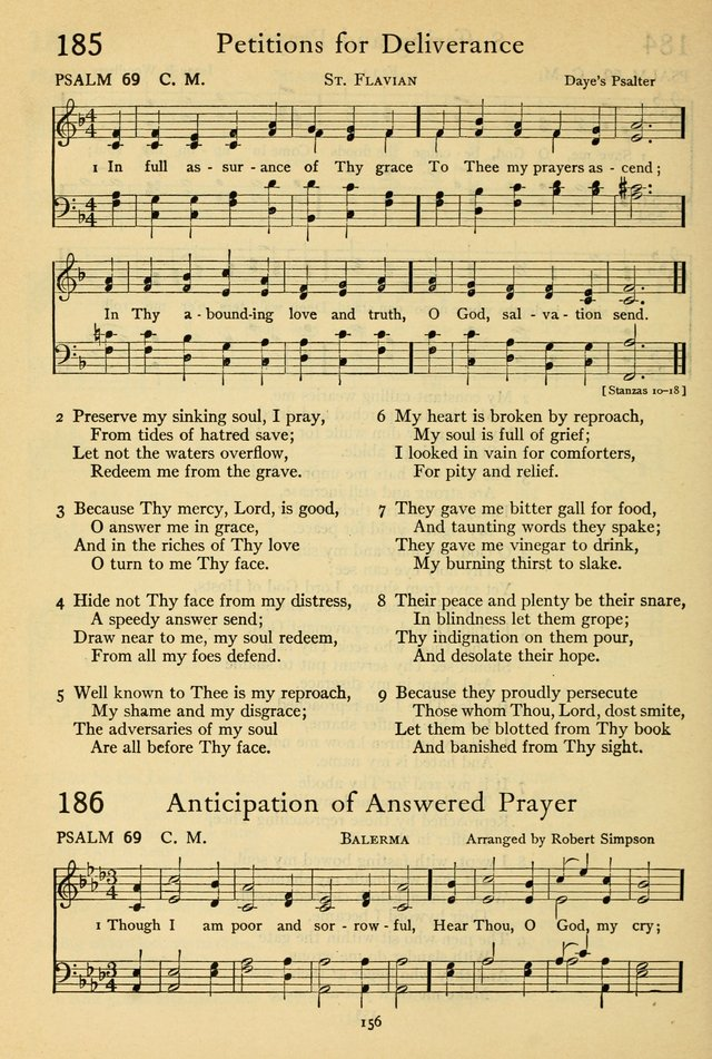 The Psalter: with responsive readings page 158