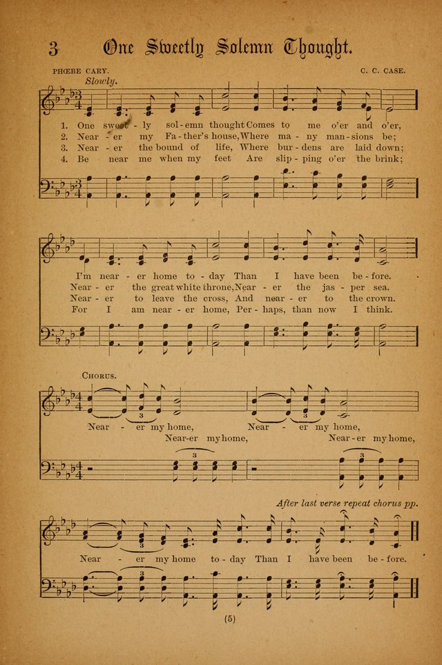 All Music Chords one sweet day sheet music : The Portfolio of Sunday School Songs 3. One sweet solemn thought ...