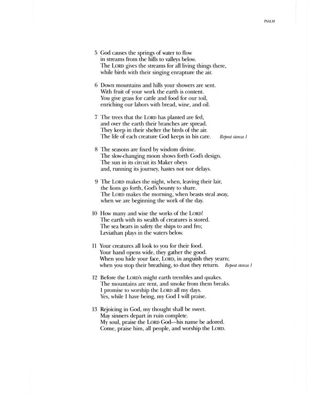 Psalter Hymnal (Gray) 104. Your Spirit, O LORD, makes life to ...