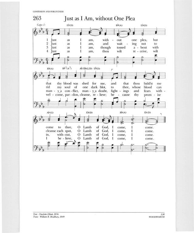Lyric just as i am without one plea lyrics : Psalter Hymnal (Gray) 263. just as i am without one plea | Hymnary.org