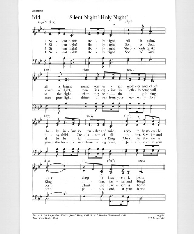 Psalter Hymnal (Gray) 344. Silent night! Holy night!   Hymnary.org