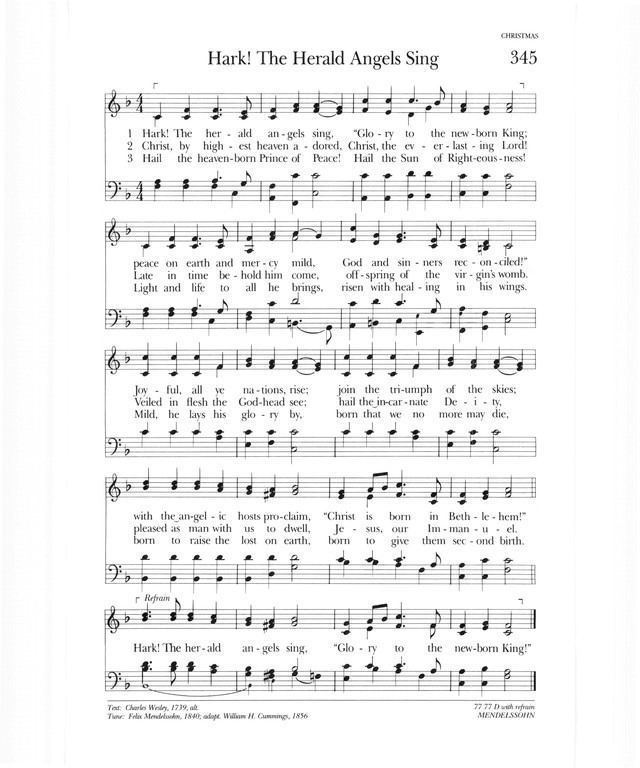 Psalter Hymnal (Gray) 345. Hark! The herald angels sing ...
