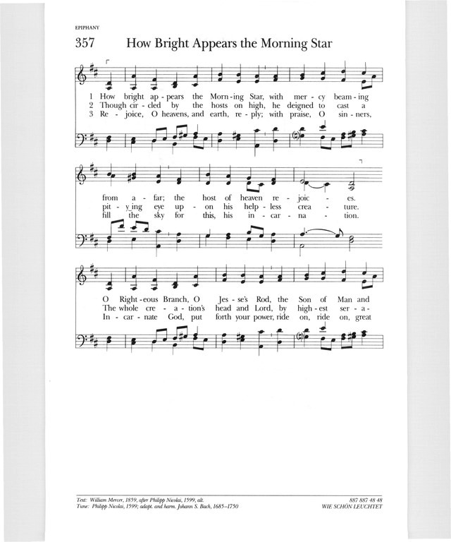 Psalter Hymnal (Gray) 357  How bright appears the morning star