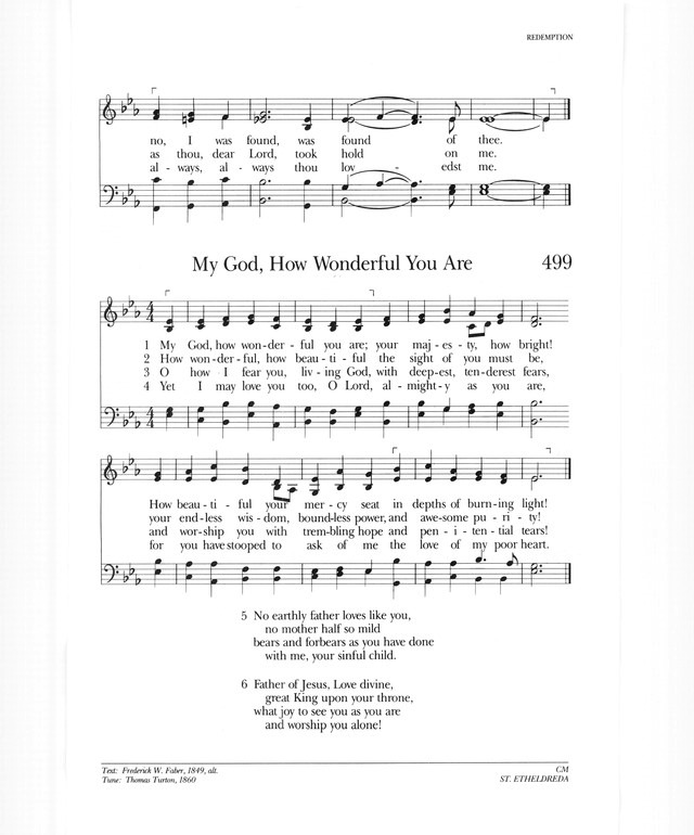 Psalter Hymnal (Gray) 498. I sought the Lord, and afterward I knew ...