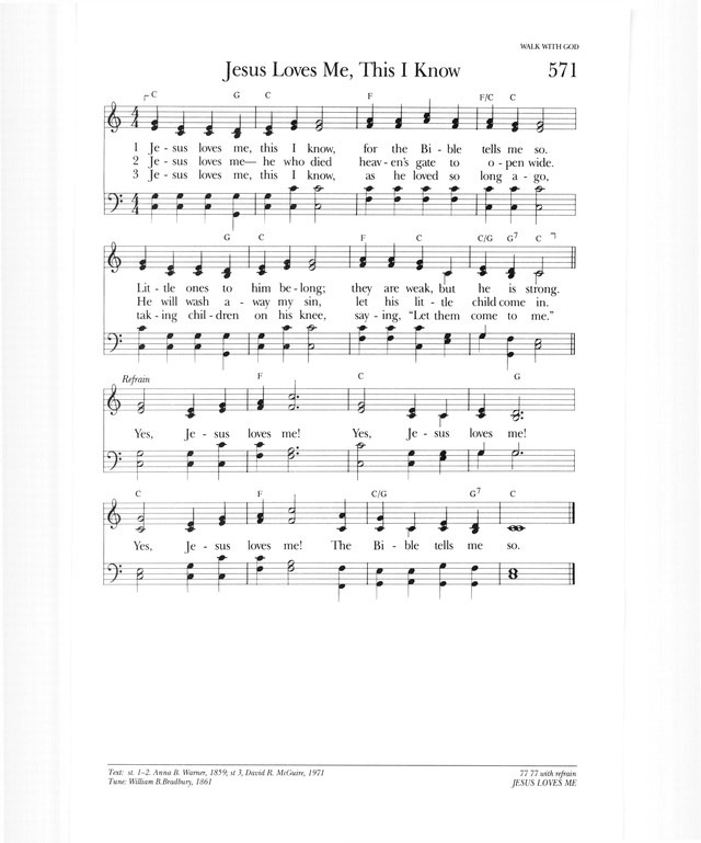 Enchanting Jesus Loves Me Guitar Chords Festooning - Guitar Ukulele ...