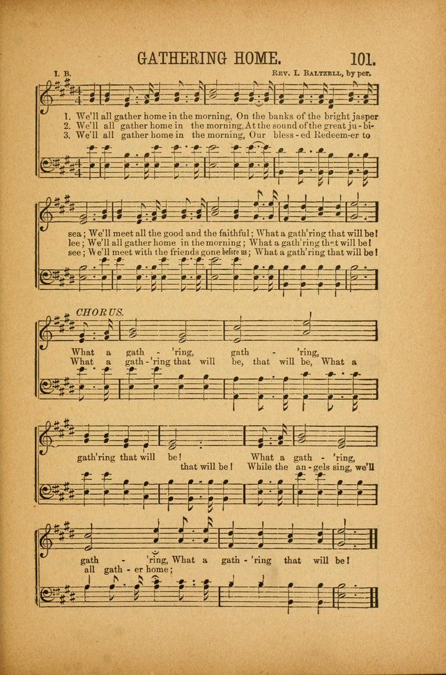 Quartette: containing Songs for the Ransomed, Songs of Love Peace and Joy, Gems of Gospel Song, Salvation Echoes, with one hundred choice selections added page 101