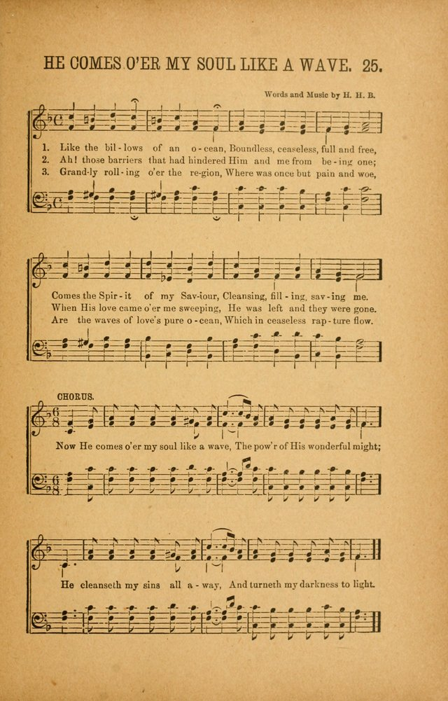 Quartette: containing Songs for the Ransomed, Songs of Love Peace and Joy, Gems of Gospel Song, Salvation Echoes, with one hundred choice selections added page 25