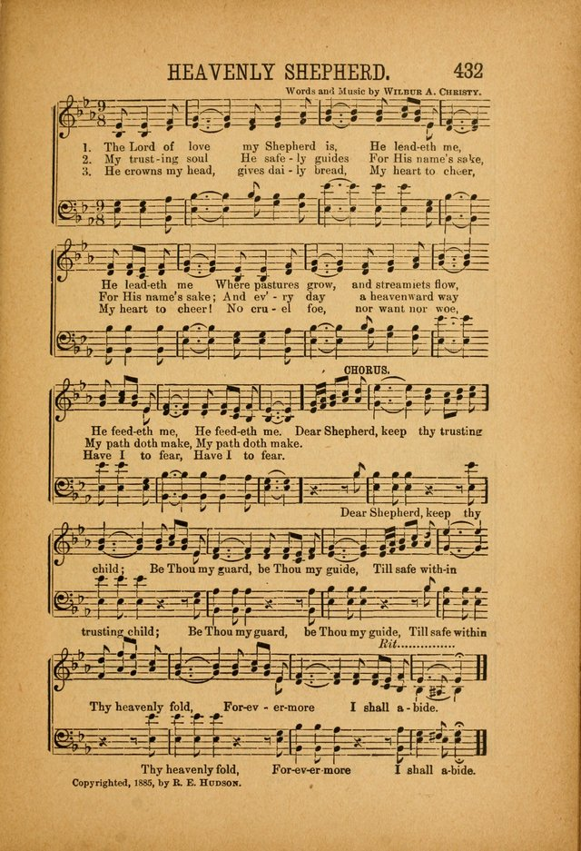 Quartette: containing Songs for the Ransomed, Songs of Love Peace and Joy, Gems of Gospel Song, Salvation Echoes, with one hundred choice selections added page 321